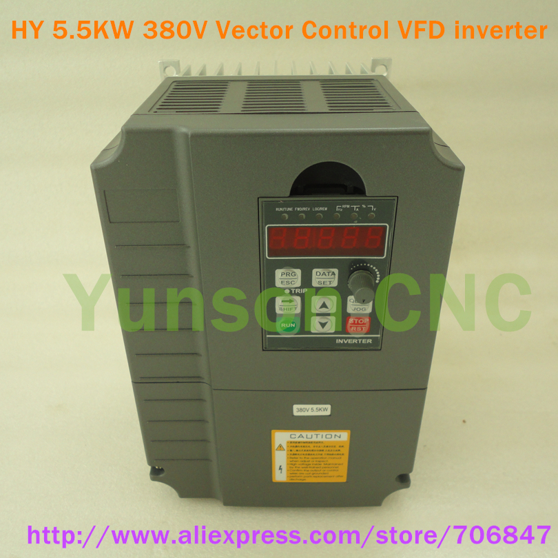 Huanyang 5500w 7hp variable frequency drive vector control for Vfd for 1hp motor