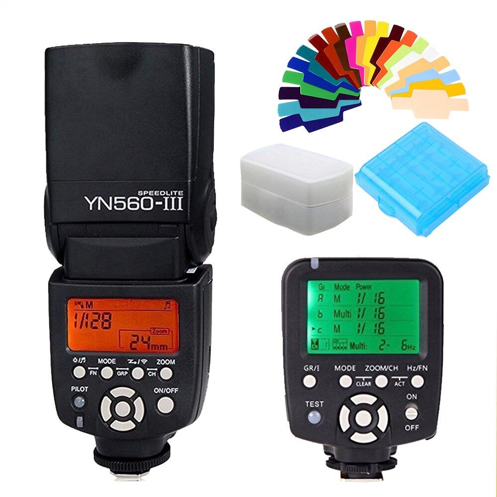 Yongnuo YN560-TX YN560TX LCD Wireless Flash Controller + YN560 III YN-560III Speedlite for Canon 70d 6d 650d 1100d 550d