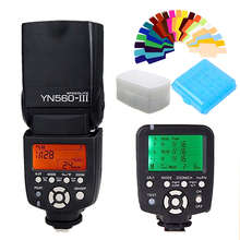цена на Yongnuo YN560-TX YN560TX LCD Wireless Flash Controller + YN560 III YN-560III Flash Speedlite for Canon 70d 6d 650d 1100d 550d
