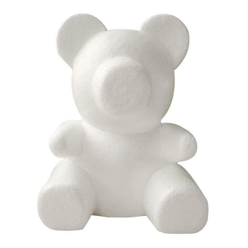 Foam Rose Artificial-Rose Flower Bear Plastic 1PC Mold Dog-Mold-Model Luck DIY 20cm/30cm