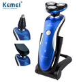 KM-1150   washable Rechargeable 360 Degrees Rotary 3in1 electric shaver floating 3D shaving man face care nose ear hair trimmer
