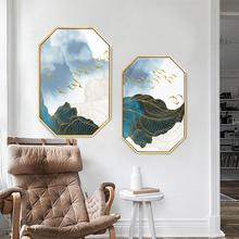 Nordic INS Abstract Cangshan modern simplicity painting home hotel hanging background wall restaurant decorative mural