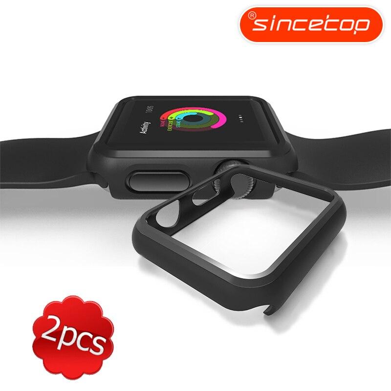 2 stücke Sehr dünnen Schwarzen Uhr rahmen PC Kasten-abdeckung Schützen shell für Apple Uhr serie 1/2/3 FÜR iWatch 38/42mm Uhr Zubehör