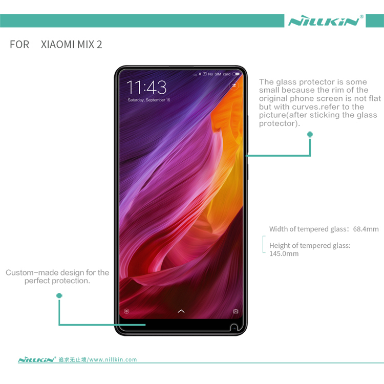 Image 2 - For Xiaomi Mi Mix 2S Glass Nillkin Amazing H+Pro 0.2MM Screen Protector Tempered Glass For Xiaomi Mi Mix 3 2 2S Mix2 Mix3-in Phone Screen Protectors from Cellphones & Telecommunications on