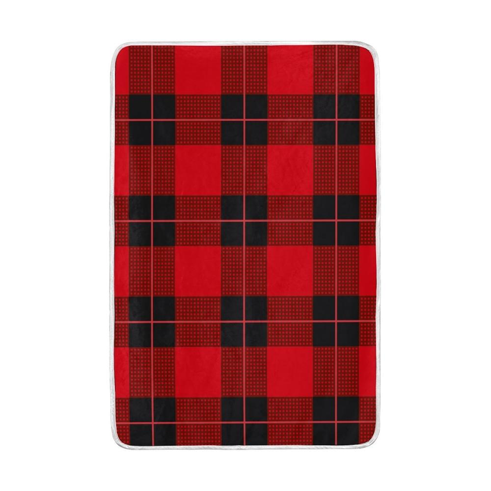 Geometric Grid Plaid Blanket Lightweight Soft Warm Blankets Twin Size 60x90 inches for Bed <font><b>Sofa</b></font> Couch Office Home Decor Cobija