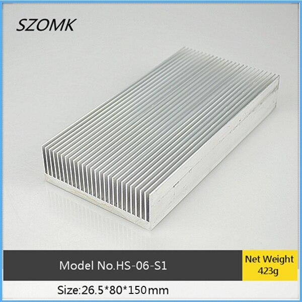1 pc, high quality extruded aluminum heat sink 26.5*80*150mm electronic heatsink computer heatsink instrument case