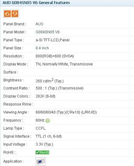 G084SN05 V6 8.4INCH Industrial LCD,new&A+ Grade in stock, tested before shipment G084SN05 V6 8.4INCH Industrial LCD,new&A+ Grade in stock, tested before shipment