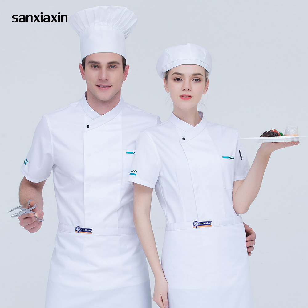 M-4XL High Quality Chef Uniform Food Service Restaurant Catering Chef Workwear Kitchen Chef Jacket Cooker Work Clothes 5 Colors