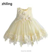 Champagne Girls Flower Dresses For Wedding Toddler Pageant Dress Kids First Communion Dress