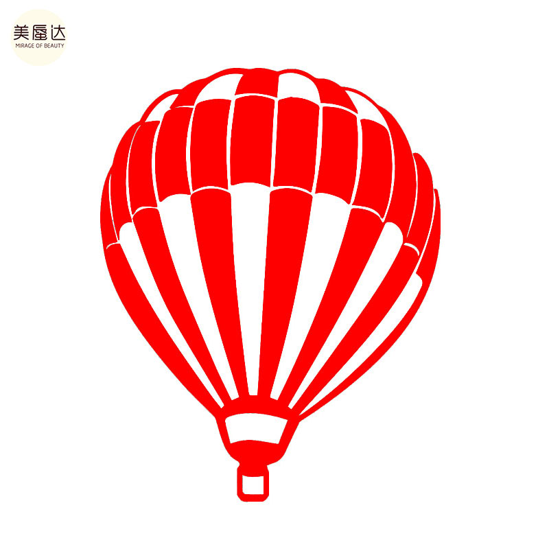 Flying hot air balloon create future adventures car sticker for motorhome wall suv waterproof reflective vinyl decal in wall stickers from home garden on