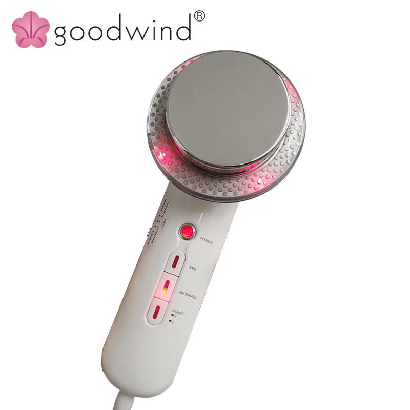 La goodwind CM-4 Body Skin Massage Device Beauty Health Care Ultrasonic Slimming EMS Tens Electrode Pads Infrared Anti Cellulite electric beauty body slimming and lipoid fat massaging massager is powerful vibratory body and slimming machine