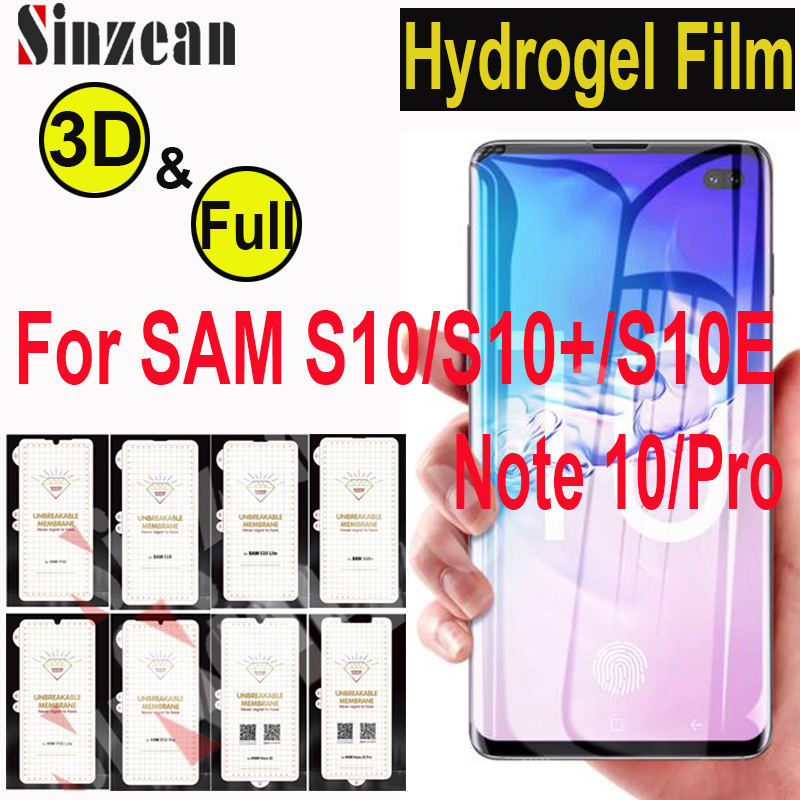 100pcs For Samsung Note 10 Pro S10 5G Matte 3D Full Cover Soft hydrogel film For