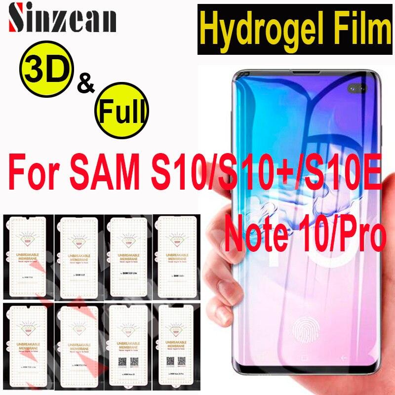 100 sztuk dla Samsung Note 10 Pro/S10 5G 3D pełna pokrywa miękka folia hydrożelowa do Galaxy S10E /S10 Plus TPU folia ochronna na ekran w Etui do ekranu telefonu od Telefony komórkowe i telekomunikacja na AliExpress - 11.11_Double 11Singles' Day 1