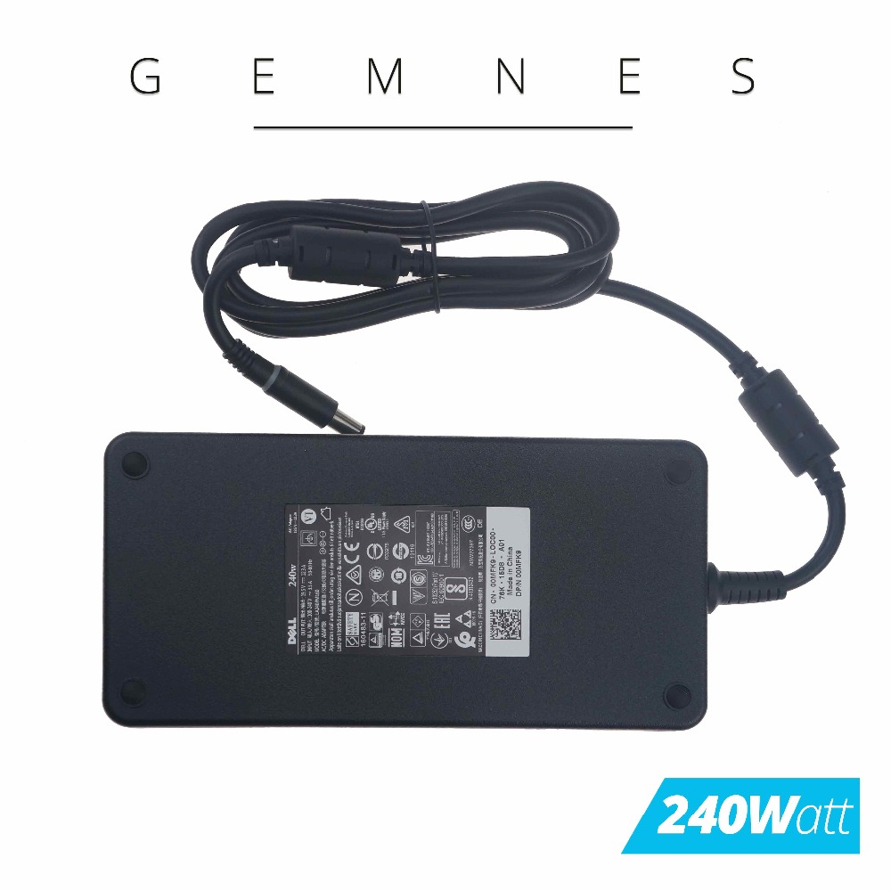 Original 240W AC DC Power Adapter Charger for Dell Alienware M17X R2 M17X R3 M6600 M6700 0MFK9 00MFK9 LA240PM160 19.5V 12.3A