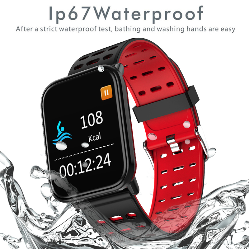 LIGE Fitness Smart Bracelet Men IP67 Waterproof Watch Blood Pressure Heart Rate Monitor Sport Smart Watch Women For Android ios in Smart Wristbands from Consumer Electronics