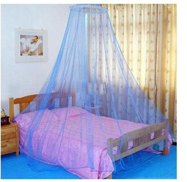 Good Protecting Round Lace Insect Bed Canopy Netting Curtain Dome Net Outdoor Blue Colored : canopy netting - memphite.com