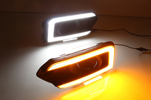 Fog Light Cover with Yellow Flasing Turn Signal and Daytime Running Light in LED DRL for City 2017 2018