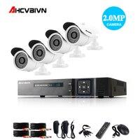 AHD 4CH 1080 P NVR DVR 1080 P CCTV Система HDMI 1080 P видео выход 4 шт. 3000TVL 2.0mp CCTV IP камера Домашняя безопасность комплект видеонаблюдения
