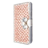 Fashion Bling Crystal Rhinestone White Wallet PU Leather Case Cover For Samsung Galaxy S5 I9600
