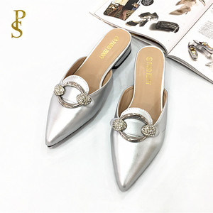 Image 3 - Womens shoes in summer PU sole slippers for ladies Womens pointed shoes