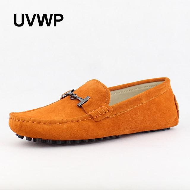 Femmes Chaussures Plates PU Mode Hommes Orange VnousmBi