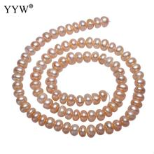 Cultured Potato Freshwater Pearl Beads Natural Pink 5-6mm Approx 0.8mm Sold Per 15 Inch Strand