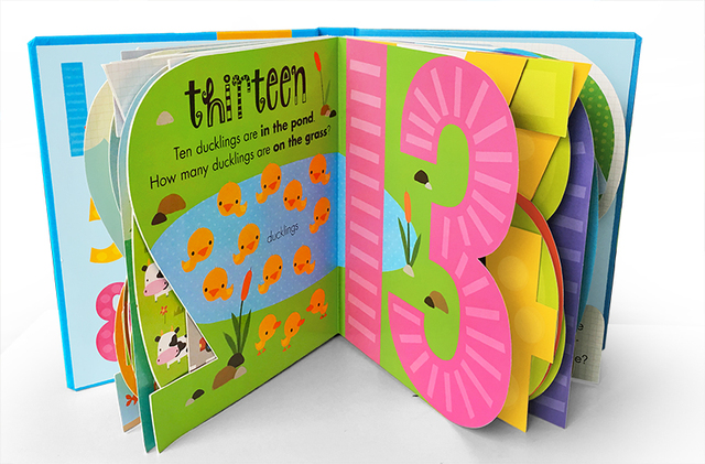My Awesome Counting Book English board Books Baby kids math learning educational book with number shaped pages 4