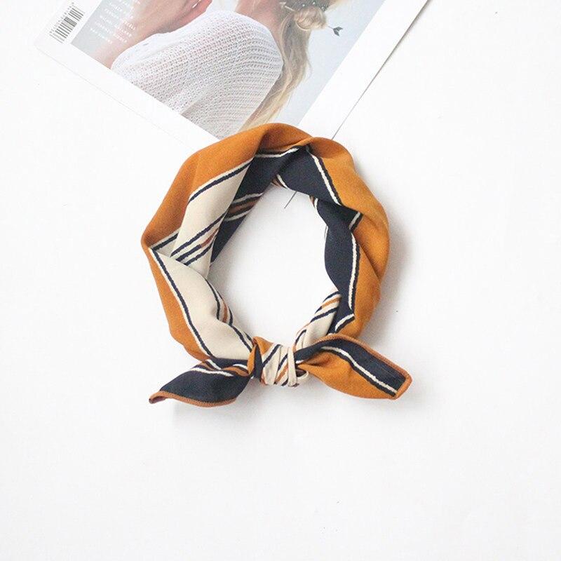 50 * 50 cm Kualitas Tinggi Syal Sutra Wanita Kecil Kotak Lembut - Aksesori pakaian - Foto 6