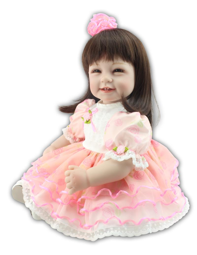 55cm Simulation Reborn Doll Smiling Princess Baby Dolls Girl