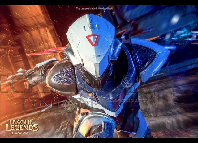 Game Lol League Legends Hero Project Zed Cosplay Full Set Weapon Mask Shoes Cosplay Weapon Props