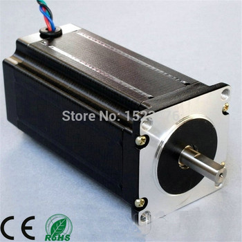 Motor paso a paso NEMA23 112mm 23HS2430 eje plano único 4-Lead 428ozin para impresora 3D para fresado de grabado CNC