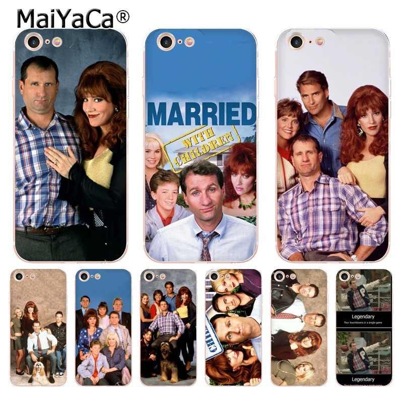 Maiyaca Kết Hôn Với Trẻ Em Trong Suốt TPU Mềm Phụ Kiện Điện Thoại Ốp Lưng Cho iPhone 7 8 Plus 6 5s 5c 4 X bao Da Funda Bao