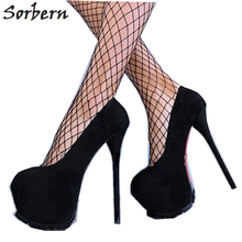Sorbern Luxury Women Designer Summer Shoes 15 Cm High Heels Pumps Womens Closed Toe Size 13 Wholesale Women Shoes Custom Color недорого