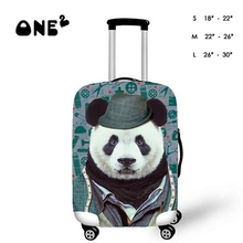 3D Panda Design Printing Travel Luggage Protective Fit Case Perfectly Apply to 18~30 Inch Suitcase Cover Stretchable Protector