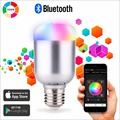 DHL LIVRE 50 pcs Bluetooth 4.0 Inteligente Lâmpada RGBW 4000 K Natureza Música branca Timmer Dimmable E27 Lâmpada LED 6 W App para iOS Android