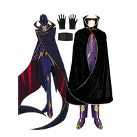 Darmowa Wysyłka Cosplay Costume Code Geass Lelouch CGCOS of the Rebellion Lelouch Lamperouge Lelouch vi Britannia Zero Halloween