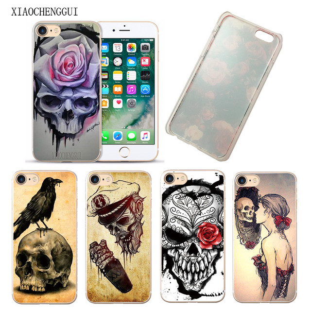 ee852d71eb US $1.23 5% OFF|Lavazza flower skull man painting for hard plastic for  Apple iphone4 4s 55sSE 5c 6 6S 6PLUS 7 7PLUS X 8 8PLUS-in Phone Bumper from  ...