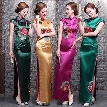 Modern kualitas tinggi gaun untuk wanita cina cheongsam gaun qipao merah  plus ukuran dalam hitam merah gaya cina gaun panjang bo. 898610405d