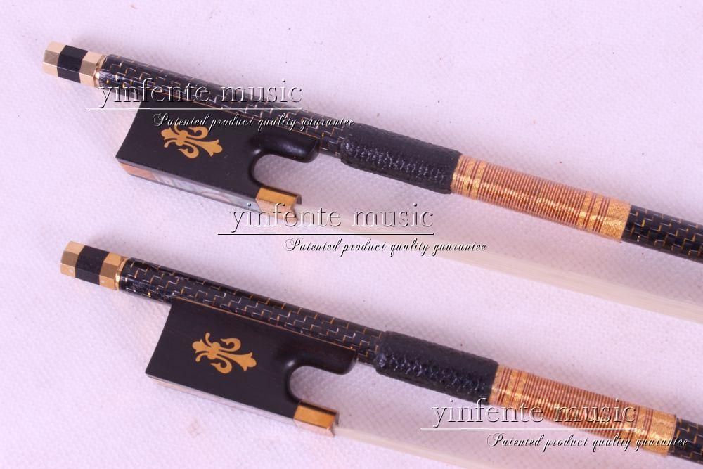 Top grade Carbon fiber 4/4 violin Bow Straight Pretty inlay violin bow 4 4 snake wood straight pretty inlay fr og high quality 11 dot inlay flower white horse hair