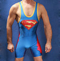 SIZE custom Superman Wrestling Singlet in All Size Power Lifting Suit G8010