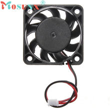 2017 mosunx NEW 12V 2 Pin 40mm Computer Cooler Small Cooling Fan PC Black F Heat sink wholesale Oct20(China)