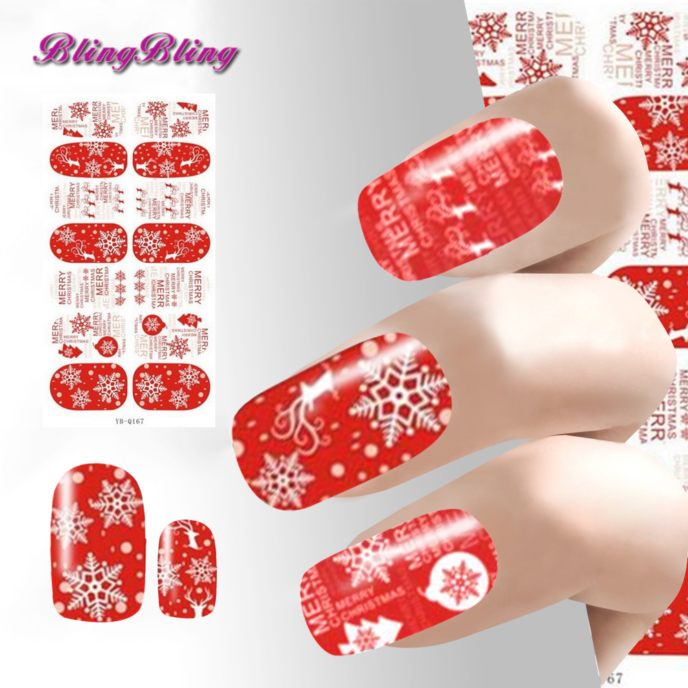 2018 Christmas Nail Sticker Xmas Nail Art Decorations Luminous Glow Snowflakes Snowman New Year Gift DIY Stickers For Nails