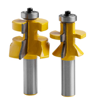 2Pcs Carbide 45degree Router Bit 1 2 Shank X 1 1 8 Matched Tongue Groove V