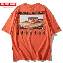 Aelfric エデン利用可能なレタープリントファッション半袖夏の Tシャツメンズ 2019 ヒップホップ Tシャツ綿 Tシャツカジュアル Tシャツトップス