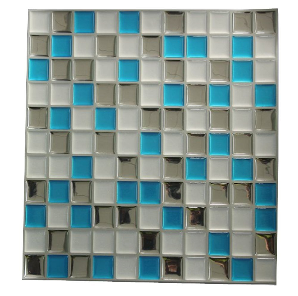 hot sell 3d self adhesive backsplash adhesive tile 10 x 10 pack of 4 in wall stickers from. Black Bedroom Furniture Sets. Home Design Ideas