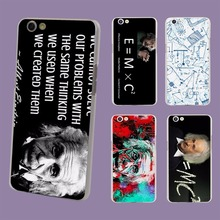 Albert Einstein Physical formula Graffiti transparent clear hard case cover for OPPO A33 A35 A37 A57 A59 R9 R9S R9S Plus R11