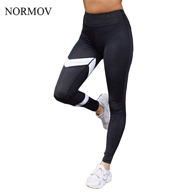 NORMOV S-XL Workout Printed Leggings Women Adventure Time High Waist Super Soft Black Legging Breathable Summer Legins