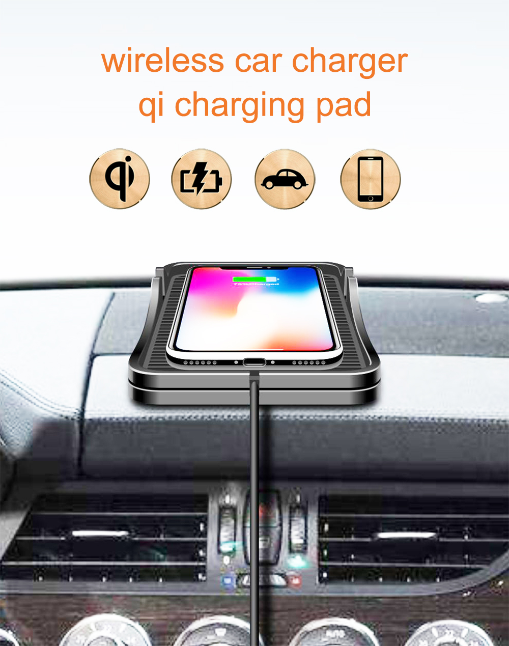 car wireless charger charging pad qi car charger