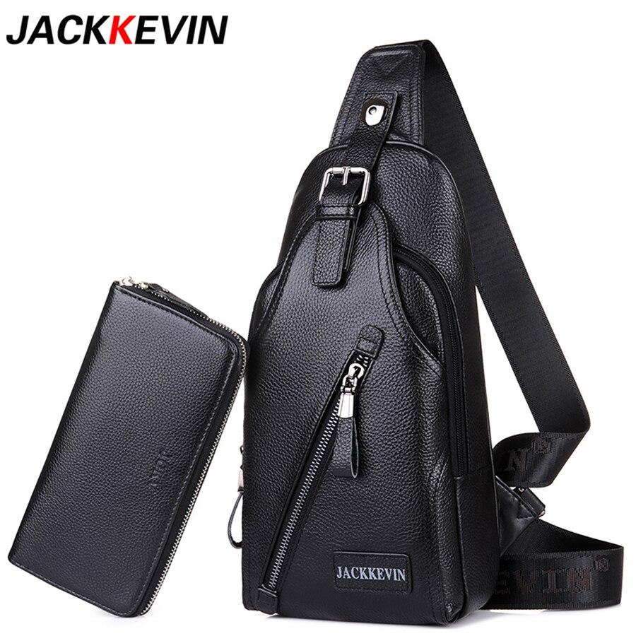 JACKKEVIN Business Men Genuine Leather Bag Natural Cowskin Men Messenger Bags Casual Men's Cowhide Male Shoulder Bag