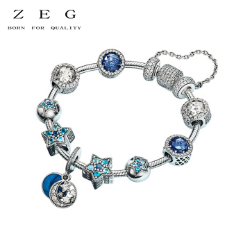 цена на ZEG New High Quality Logo Blue Star Bracelet Free Package Manufacturers Wholesale Free Package Mail